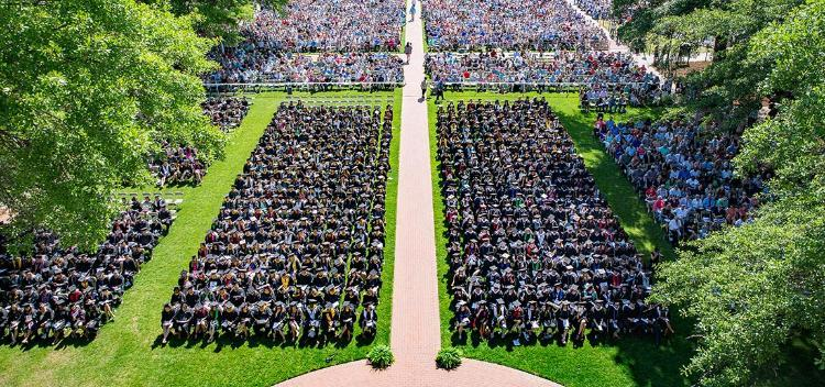 Aerial View of Commencement 2017