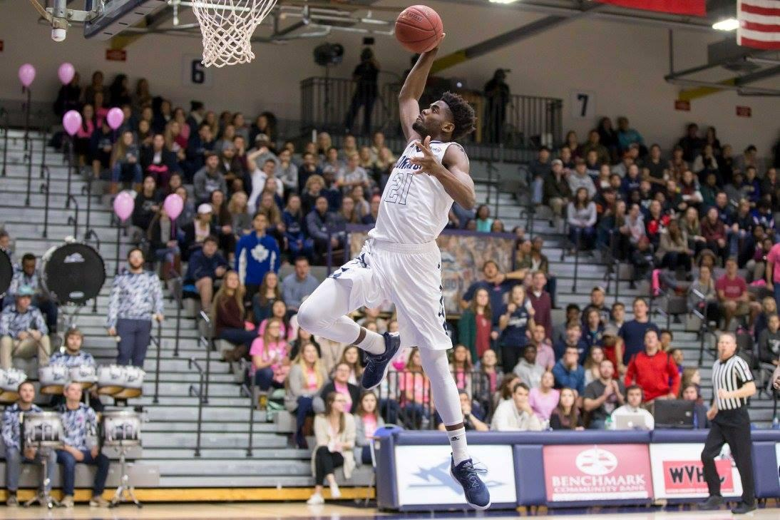 Longwood men's basketball dunk