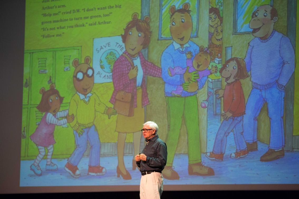 Marc Brown at the Virginia Childrens Book Festival
