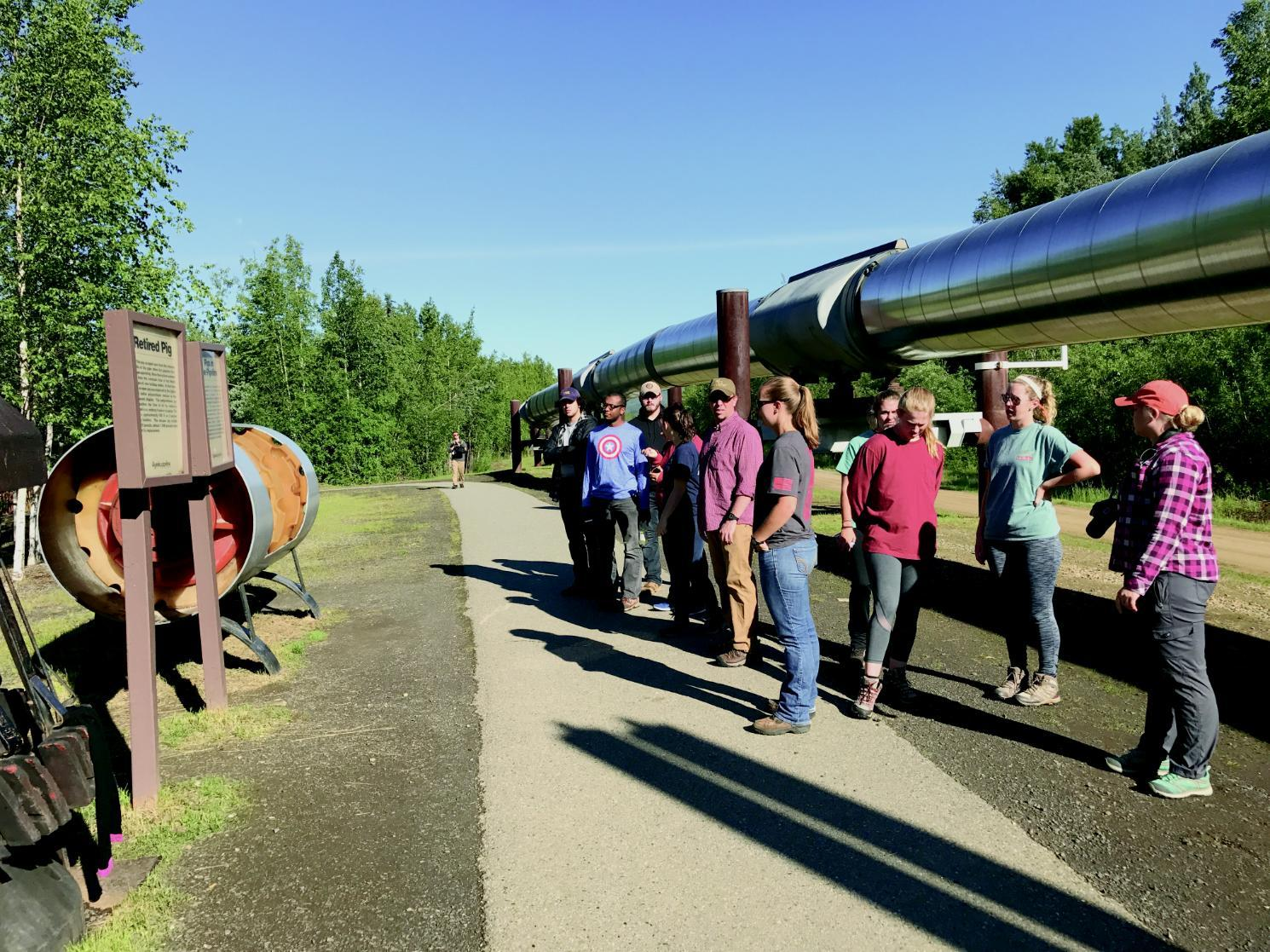 Students traveled to Alaska to study issues surrounding pipelines