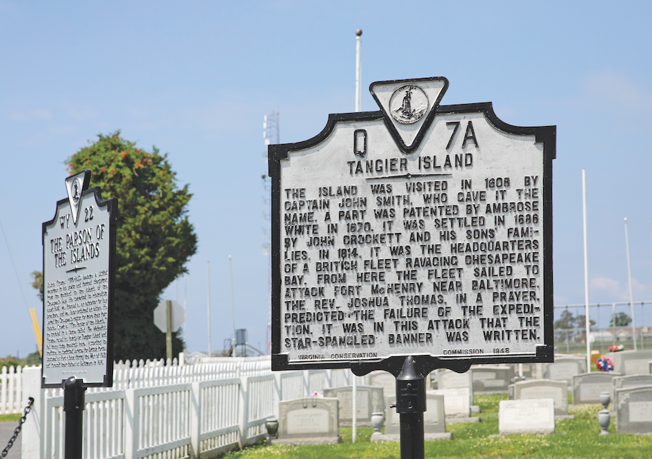 Tangier Island sign