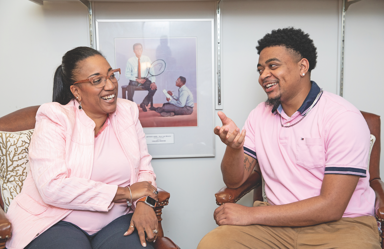 Dr. Erica Brown-Meredith '95 and Darius Baskerville '20