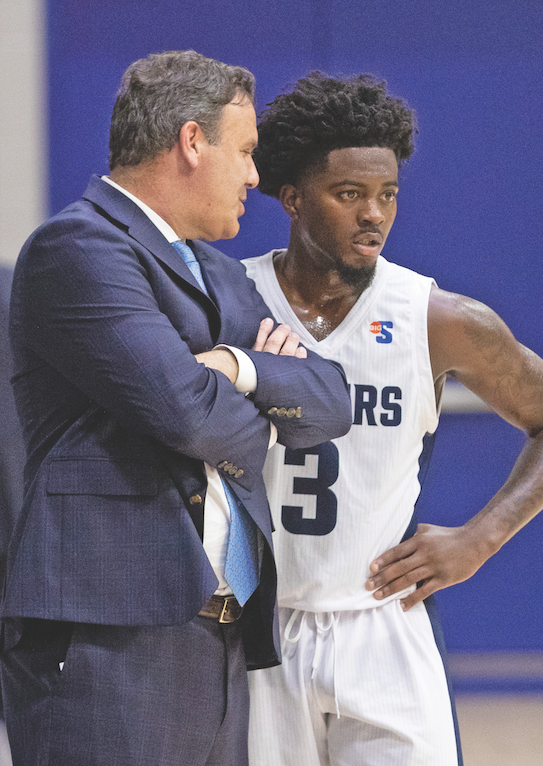 Head men's basketball coach Griff Aldrich met standout Longwood basketball player Shabooty Phillips when Phillips was 12 and they both lived in Houston. The two stayed in touch, and Aldrich eventually recruited Phillips to Longwood.