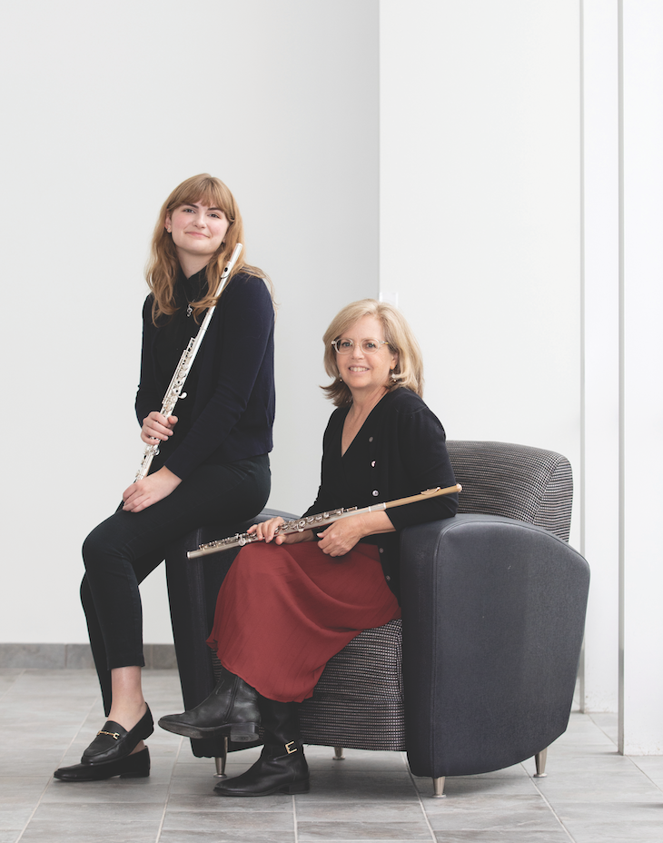 Ellie Swanson '20 (left) says Dr. Elizabeth Brightbill has given her an honest, balanced view of the challenges and rewards of a career in music (Photo by Courtney Vogel).