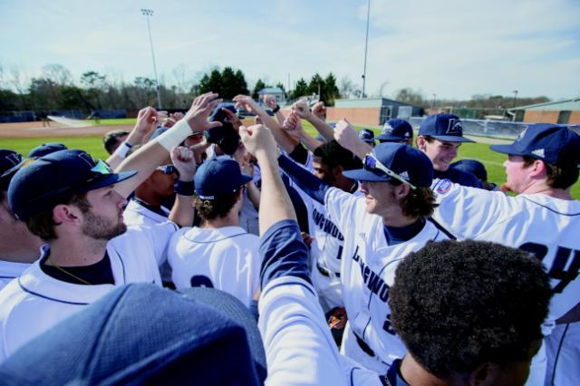 Longwood baseball, with the largest roster on campus, was one of 10 teams to post a GPA of at least 3.00 in fall 2017. Photo credit: Mike Kropf '14