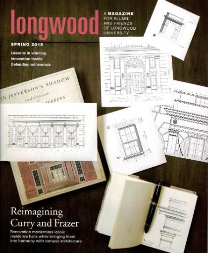 Longwood Magazine Cover - March 2018 - Featuring Renderings of Curry and Frazer