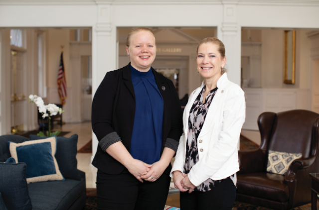 Dr. JoEllen Pederson (left) and Dr. Lee Bidwell are wrapping up a three-year research project that involved more than 80 students.