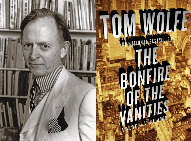 Tom Wolfe, shown here in 1988, had already won acclaim for his nonfiction works when he received the Dos Passos Prize in 1984 and was turning his writing talents to fiction. He went on to write The Bonfire of the Vanities, a best-seller published in 1987 and often called the quintessential novel of the 1980s. (Photo courtesy of Ulf Andersen)