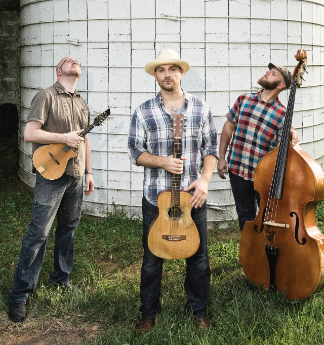Justin Trawick '04 (center) and his band, The Common Good, are attracting attention on the East Coast with their unique take on Americana music (Martin Radigan).