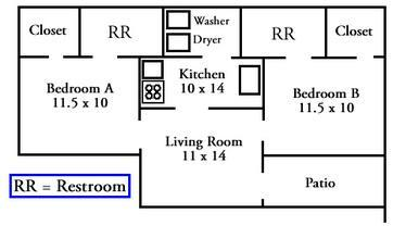 Lancer Park Two Bedroom Apartment Floor Plan