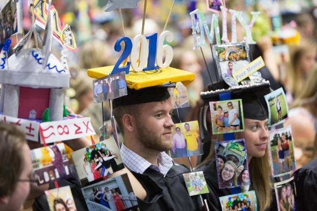 Students are capped at Convocation as part of a longstanding tradition.