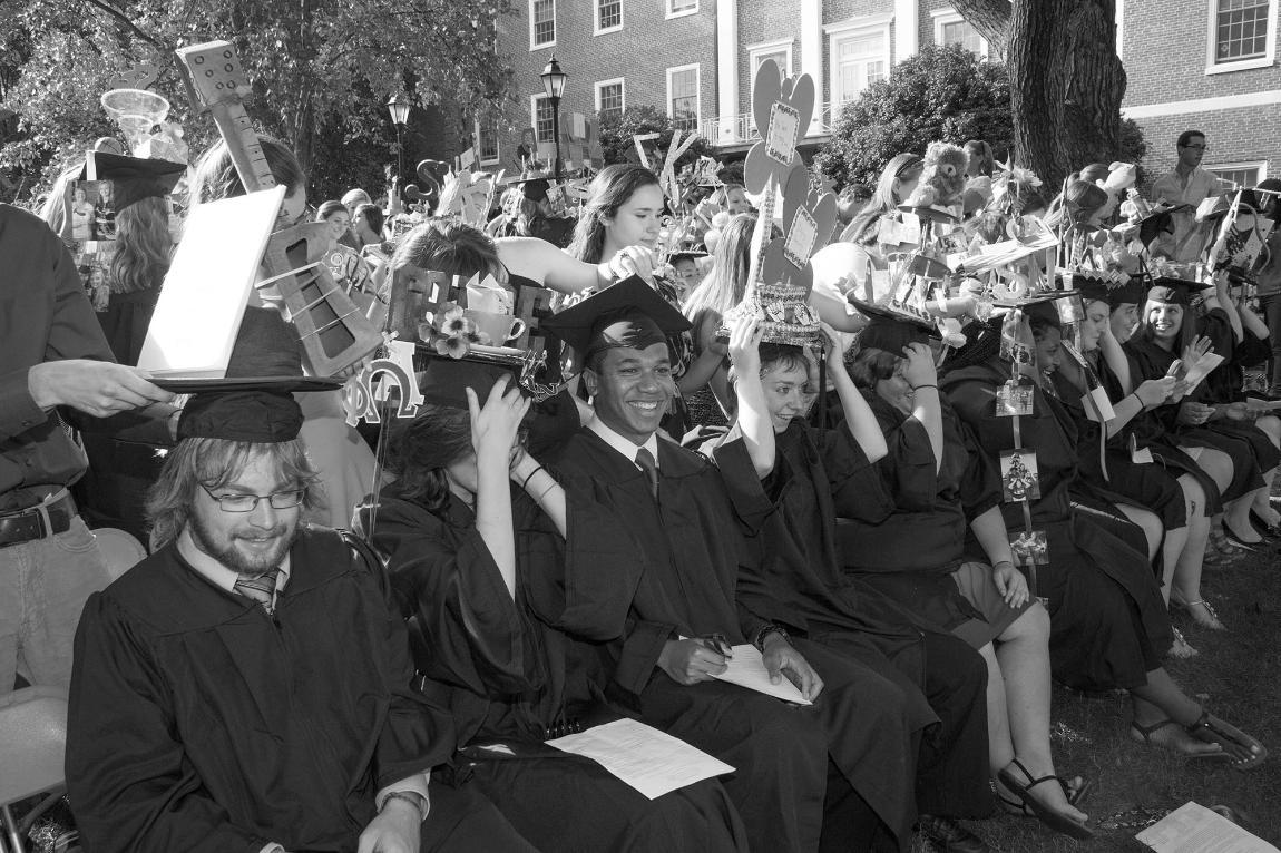 Students are capped during Convocation as part of a long-standing tradition
