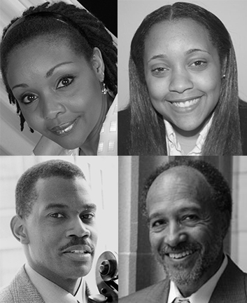 (clockwise from left) Dr. Lisa Edwards-Burrs, Naima Burrs, Russell Wilson, Dr. Timothy Holley