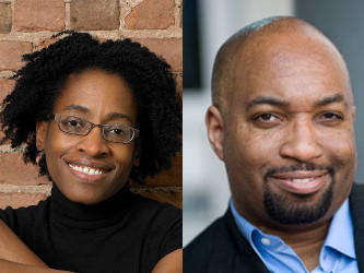 Award winning authors Jacqueline Woodson (L) and Kwame Alexander (R) will appear at the 2015 Virginia Children's Book Festival