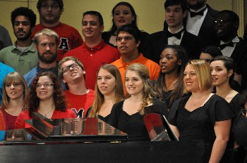 Longwood students performing in 2014's All Choirs Concert
