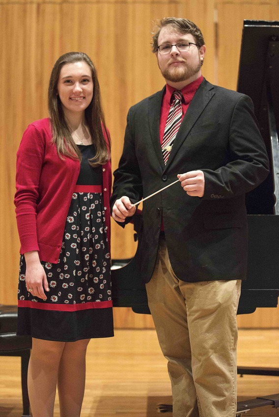 Leah Parr, piano, and Andrew Bentley, conductor, will be featured with the Longwood Wind Symphony