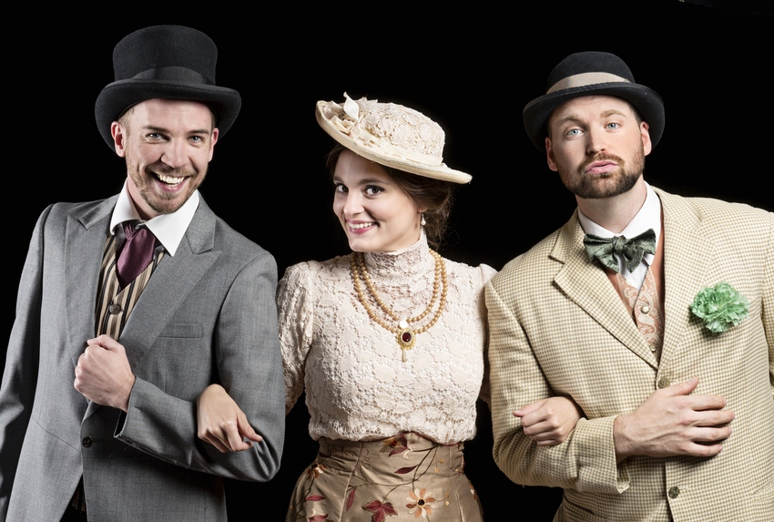 Tim Sailer as Jack, Zoe Speas (Gwendolen) and Josh Innerst (Algernon) in The Importance of Being Earnest. Photo credit: Michael Bailey