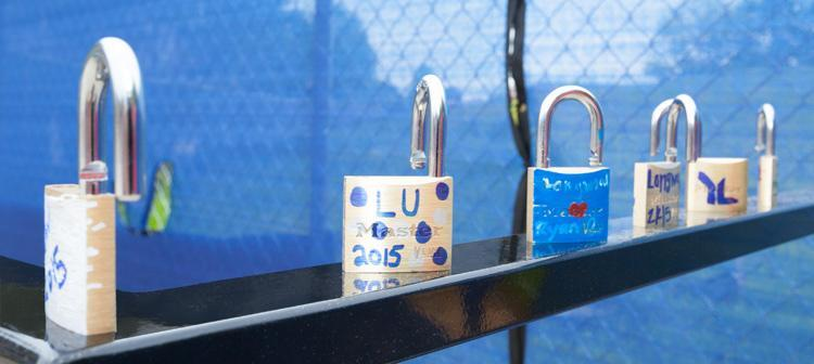 Inspired by the famous Paris bridges, Longwood seniors start a new tradition, legacy locks.