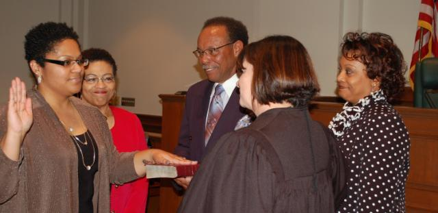 Megan Clark '05 sworn in as Prince Edward Commonwealth's Attorney
