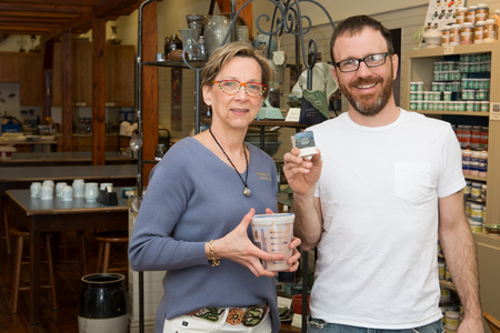Longwood art professor Adam Paulek and his students are developing glazes for Pam Butler of the Mainly Clay studio in Farmville