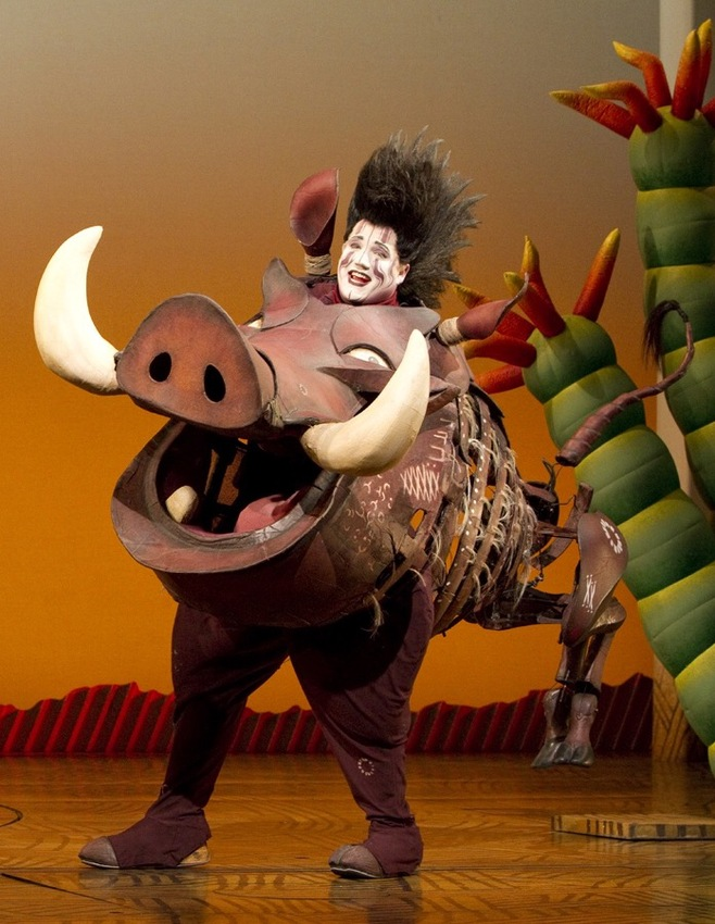 Ben Jeffrey as Pumbaa in Disney's The Lion King