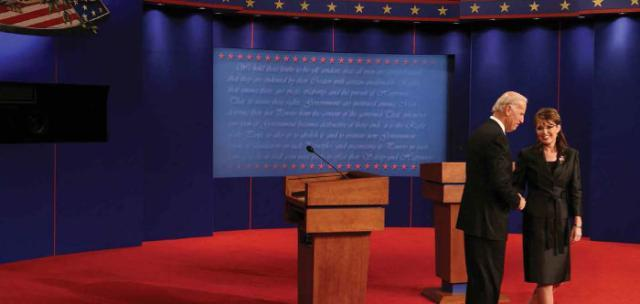 The 2008 Vice Presidential Debate between democratic candidate Joe Biden and republican candidate Sarah Palin drew nearly 70 million viewers, making it the second-highest viewed debate – presidential or vice presidential – ever. All debate photos courtesy of the Associated Press.