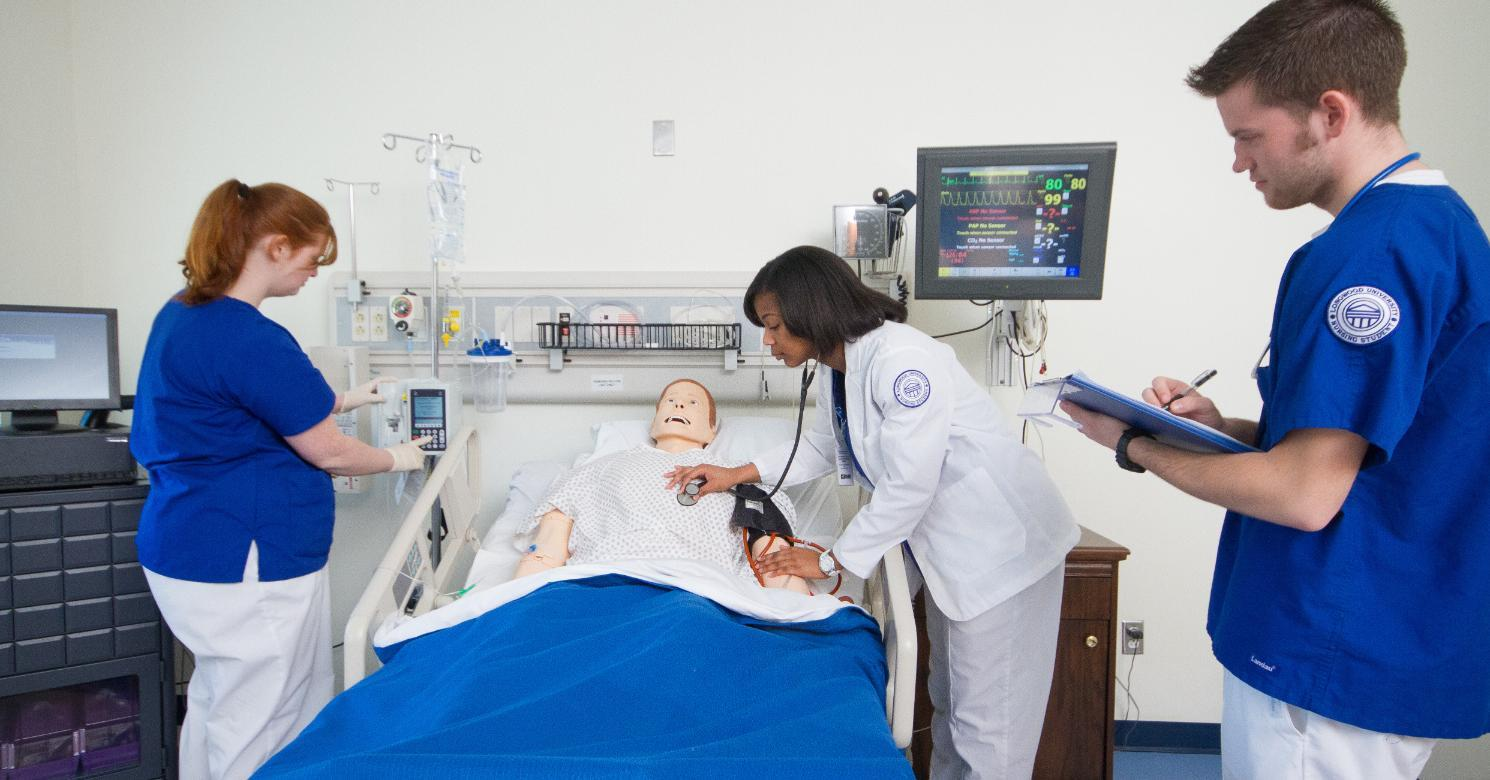 Students in Nursing Simulation Lab