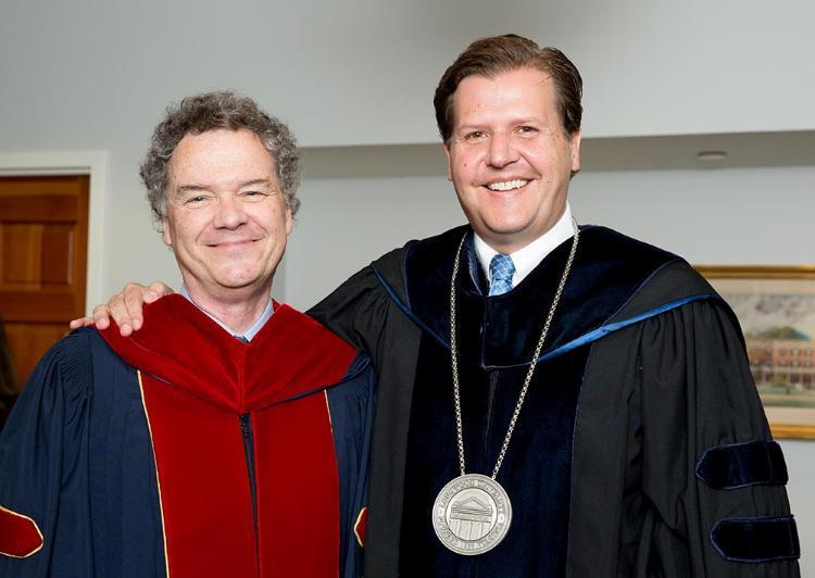 Dr. Edward Ayers with Longwood President W. Taylor Reveley, IV