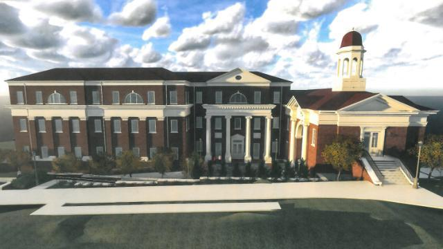 Rendering of new Academic Building