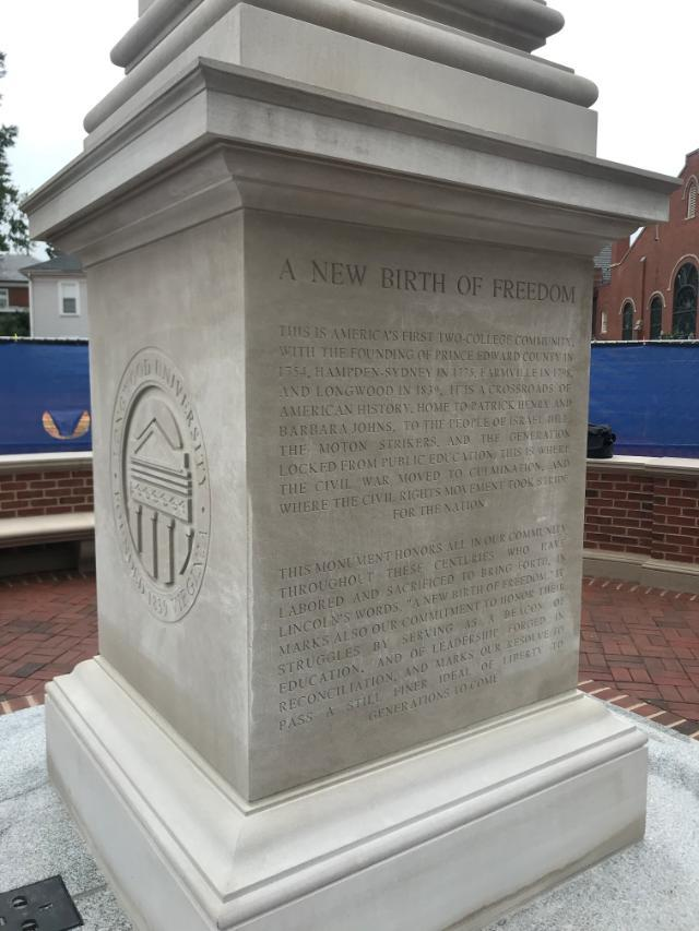 Monument to Farmville history