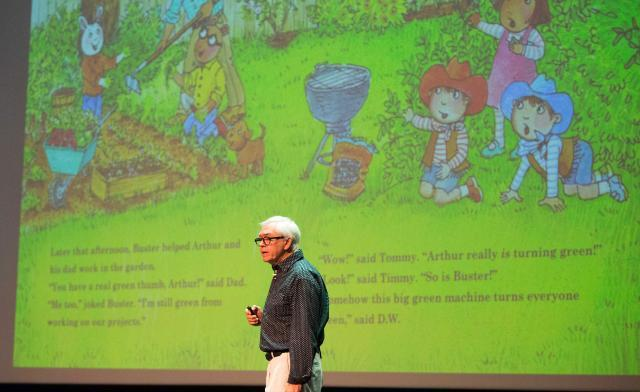 Marc Brown presents at the 2016 VCBF