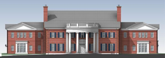 Admissions Building Rendering