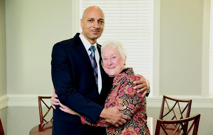 Joe Leake, whose life was saved by a liver transplant, and Ellie Miller, the mother of the Longwood student who donated the organ, have developed a special friendship.