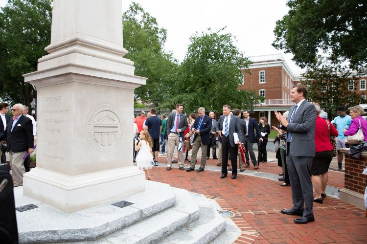 Unveiling of monument to Farmville history