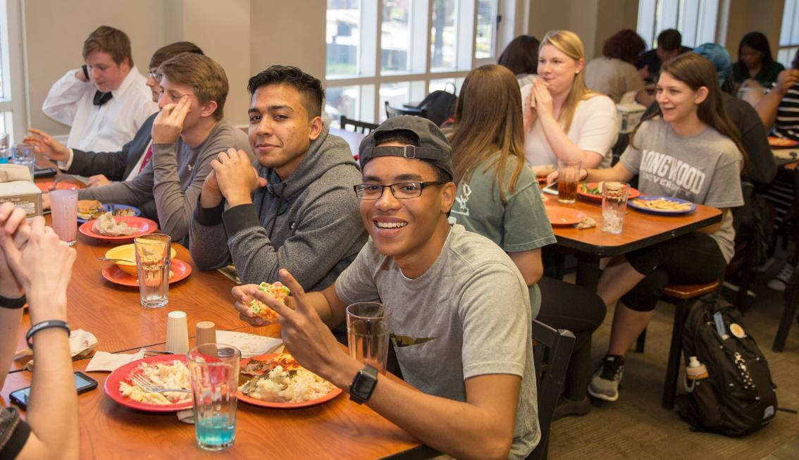 Students eating in DHall