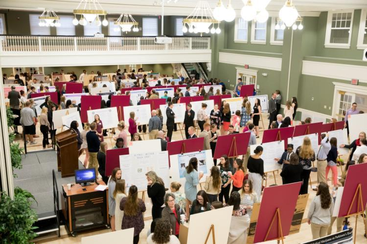Blackwell Hall poster session from 2018 event
