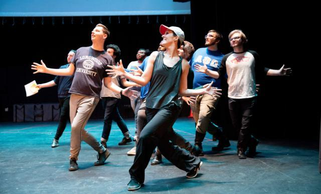 New York City-based performer and choreographer, Marisa Kirby, works with cast members from Chicago