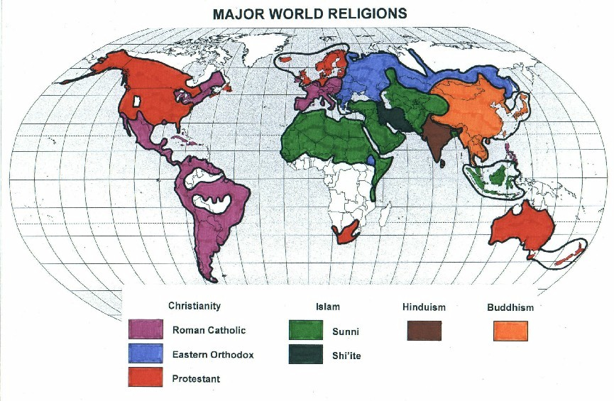 an analysis of the six major religions of the world A comprehensive researched article on top ten religions in the worldexplaining the highly popular practiced religion in the world and their  major scriptures:.