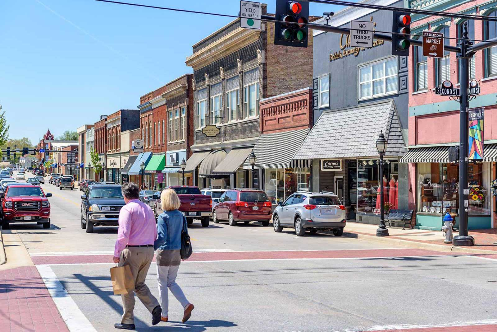 Downtown Farmville, just a short walk from main campus, has a quaint college-town feel—yet is always bustling with activity.