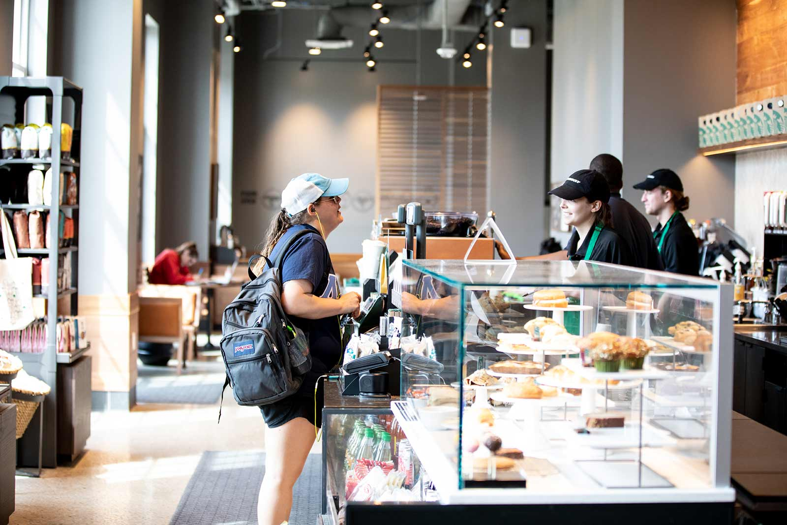 Need an afternoon cold brew caffeine pick-me-up? Upchurch University Center is the vibrant hub of student life and activity, housing a food court with three restaurant options, plus Starbucks.