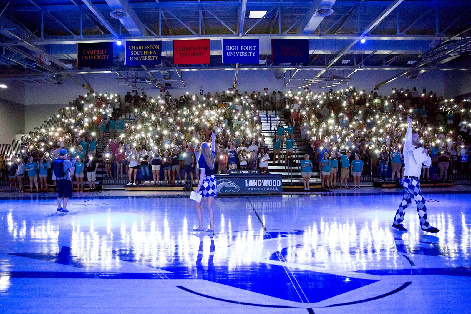 The atmosphere is electric inside Willett Hall for home basketball games, with students cheering the Lancers to victory on Kersey Court.