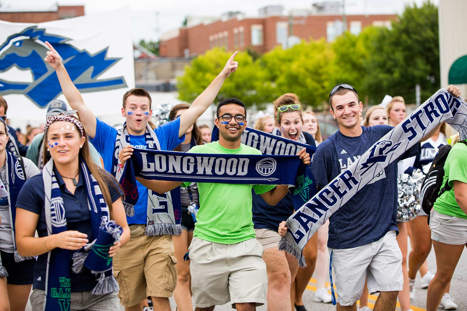 We kick off the new academic year by walking through downtown showing off our Lancer pride at The G.A.M.E. (Greatest Athletics March Ever). Don't forget to grab your Longwood Scarf!