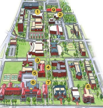Longwood Campus Map Longwood University Campus Map – Bestinthesw
