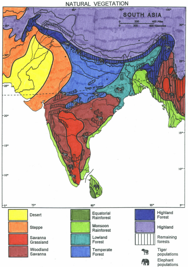 Religion Map Of South Asia.Dh3